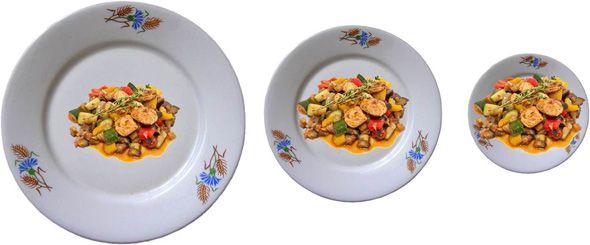 tamaño de platos ilusión delboeuf