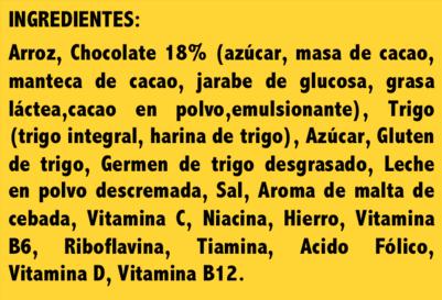 lista de ingredientes de etiqueta nutricional