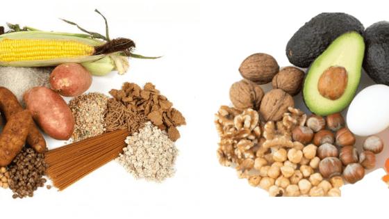 carbohidratos y grasas para perder peso