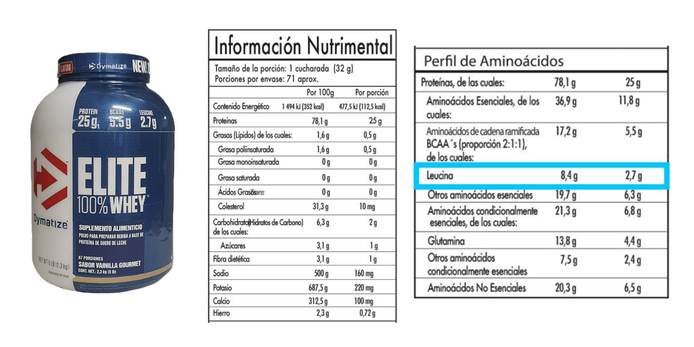 suplemento de proteína de suero dymatize con perfil de aminoácidos