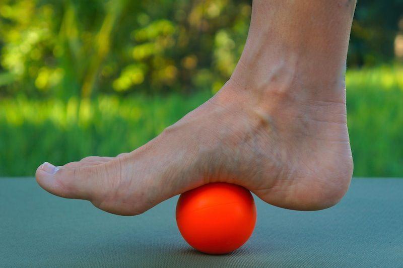 masaje en pie para incrementar flexibilidad