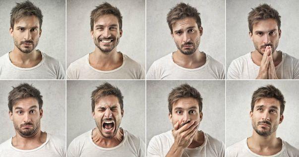 expresiones faciales de diferentes emociones