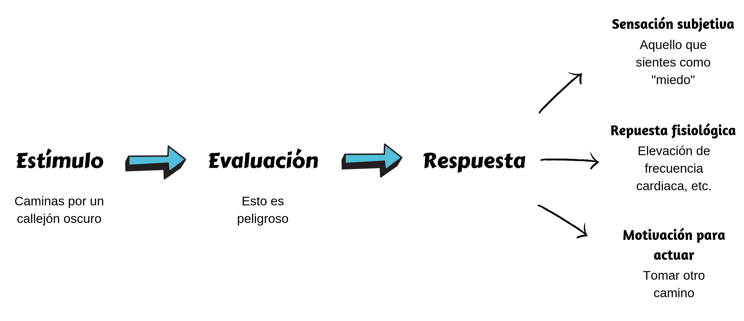 diagrama de flujo de lo que es una emoción