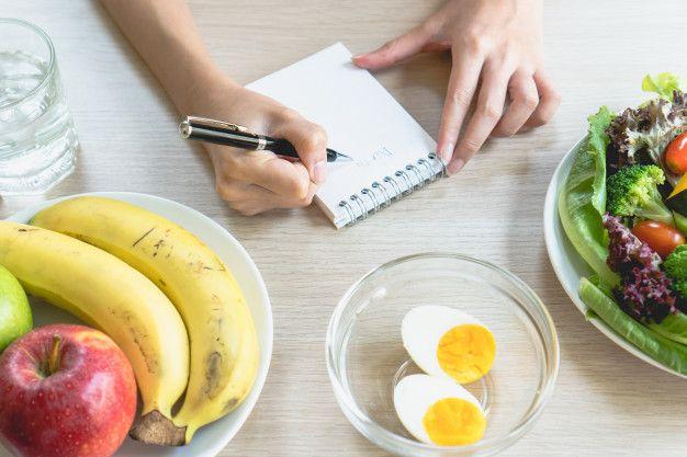 contar calorias en cuaderno
