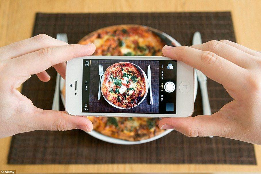 tomar foto de comida con el celular