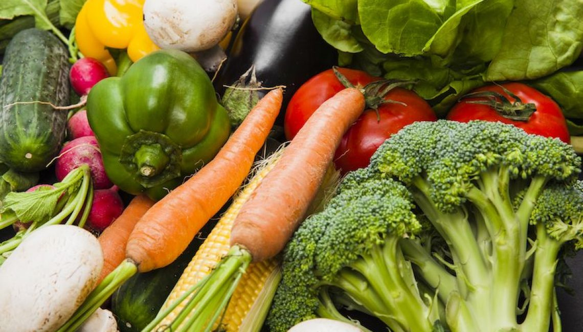 verduras de diferentes colores